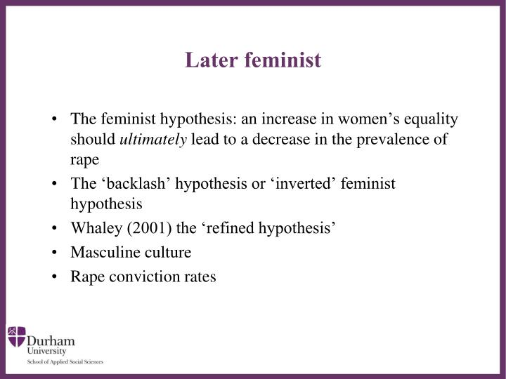Later feminist