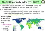 digital opportunity index itu 2006