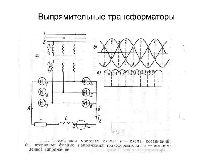 Выпрямительные трансформаторы