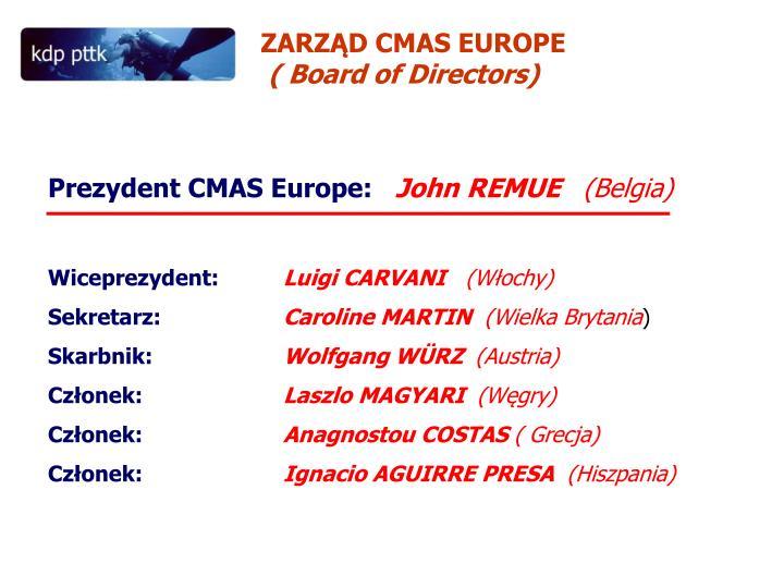 ZARZĄD CMAS EUROPE