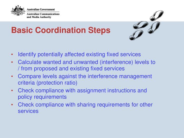 Basic Coordination Steps