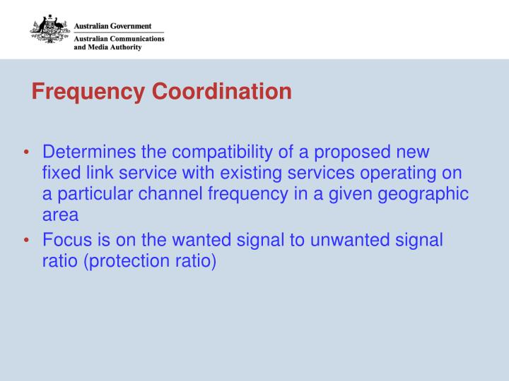 Frequency Coordination
