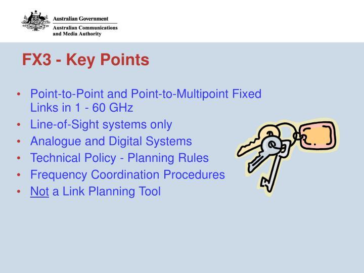 FX3 - Key Points