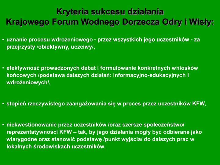 Kryteria sukcesu działania
