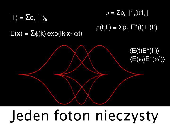 Jeden foton nieczysty