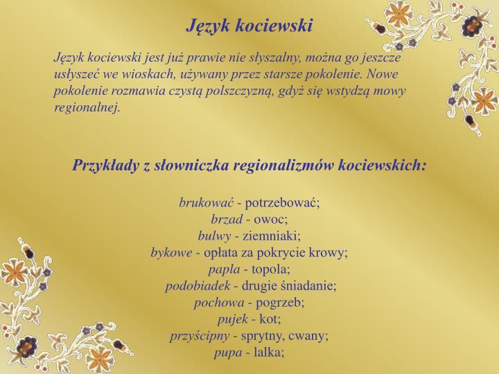 Język kociewski