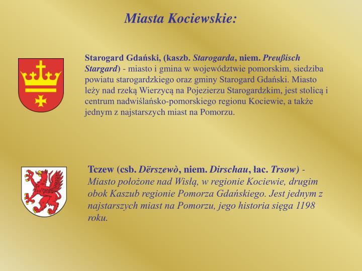 Miasta Kociewskie: