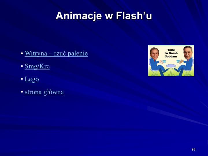 Animacje w Flash'u