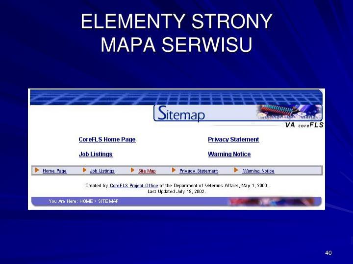 ELEMENTY STRONY