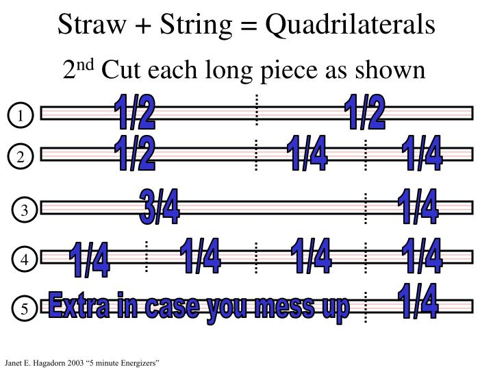 Straw + String = Quadrilaterals