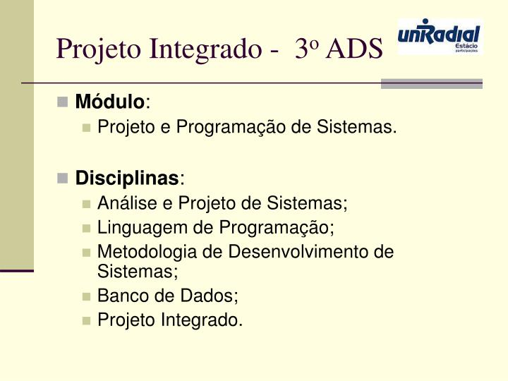 Projeto Integrado -  3