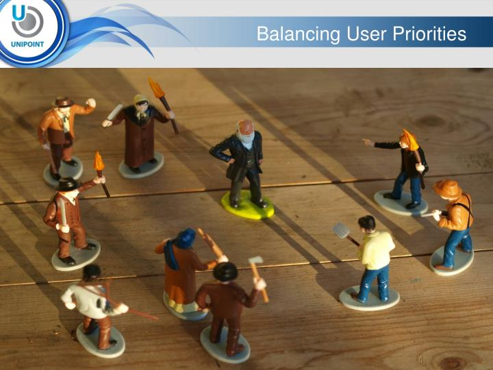 Balancing User Priorities