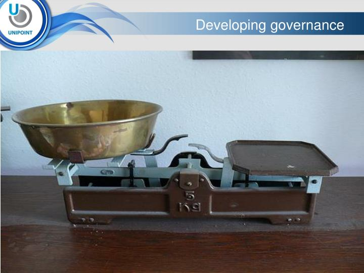 Developing governance