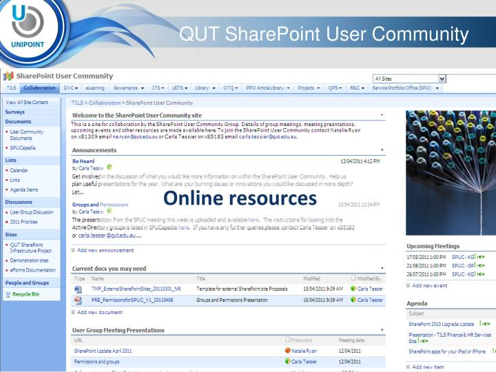 QUT SharePoint User Community