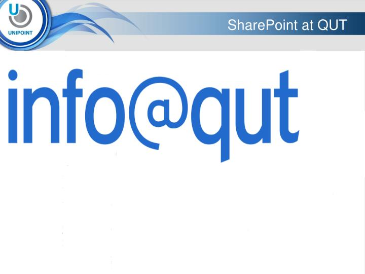 SharePoint at QUT