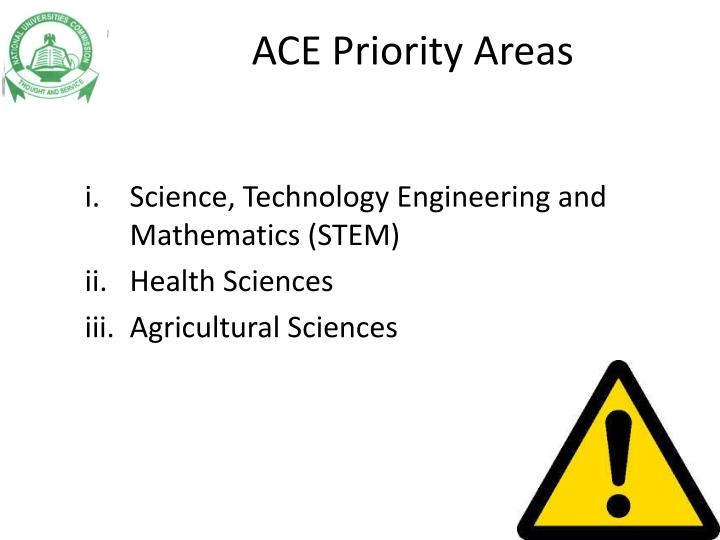 ACE Priority Areas