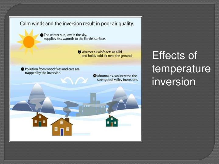 Effects of temperature inversion