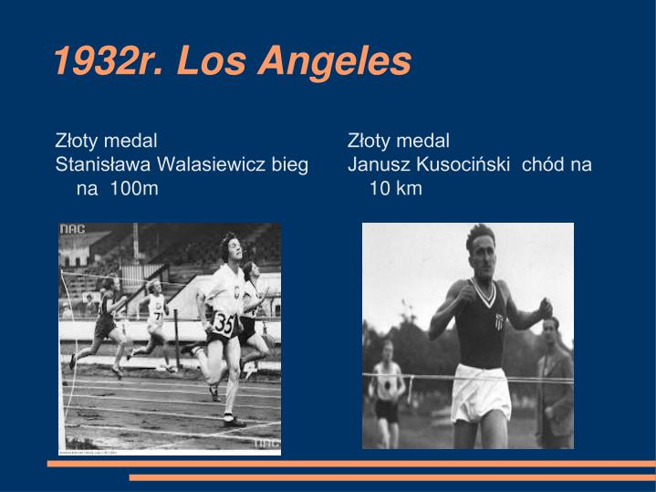 1932r. Los Angeles