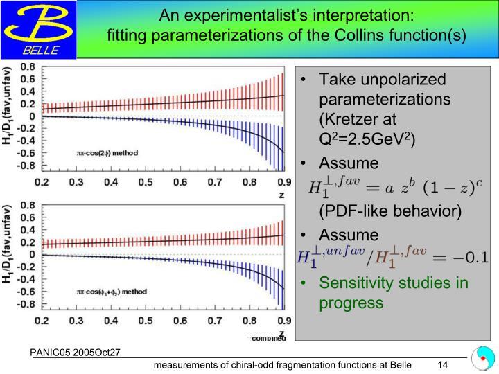 An experimentalist's interpretation: