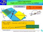 collins fragmentation angles and cross section cos f 1 f 2 method