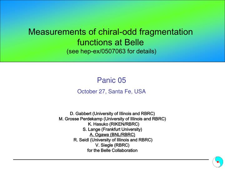 Measurements of chiral odd fragmentation functions at belle