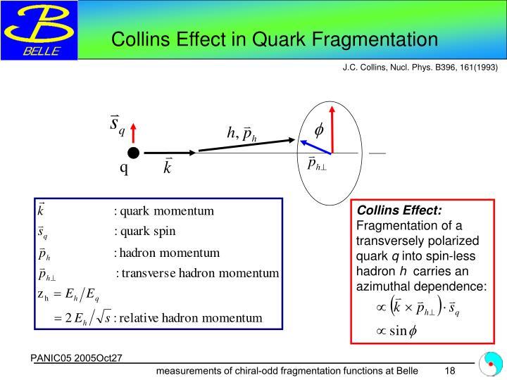 Collins Effect in Quark Fragmentation