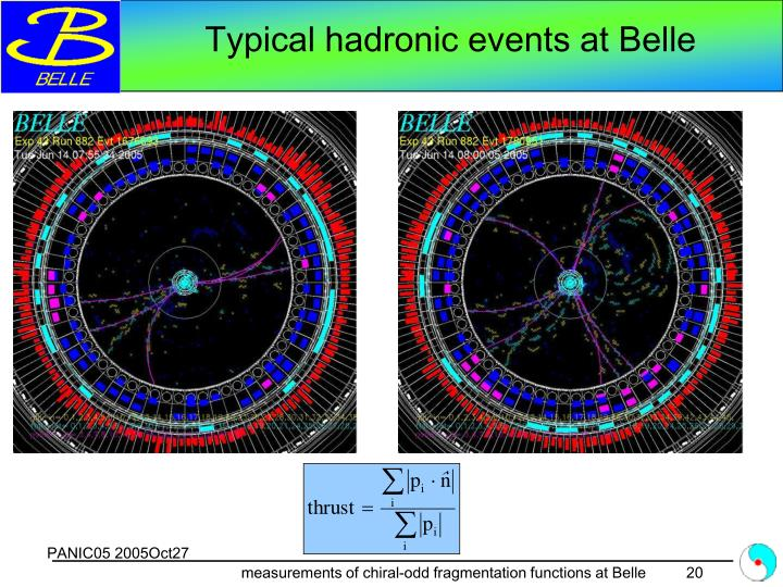 Typical hadronic events at Belle