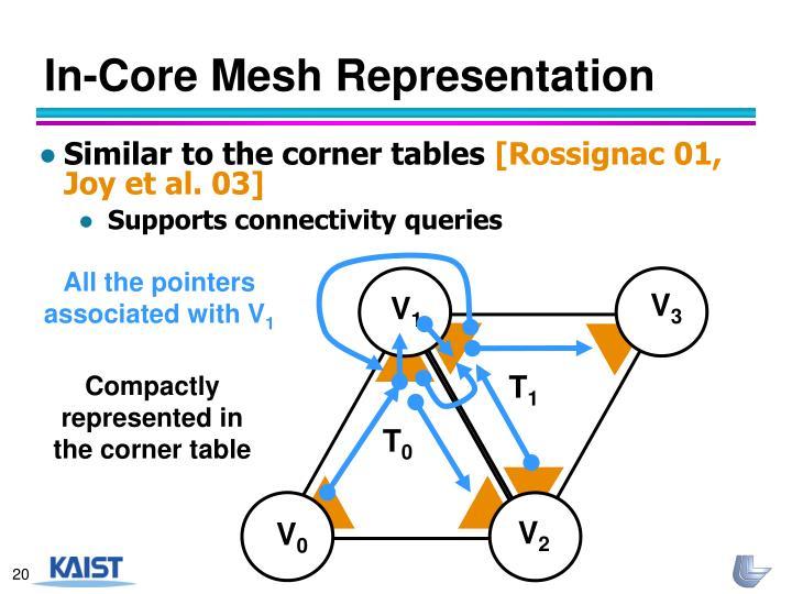 In-Core Mesh Representation