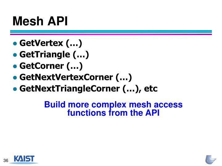 Mesh API