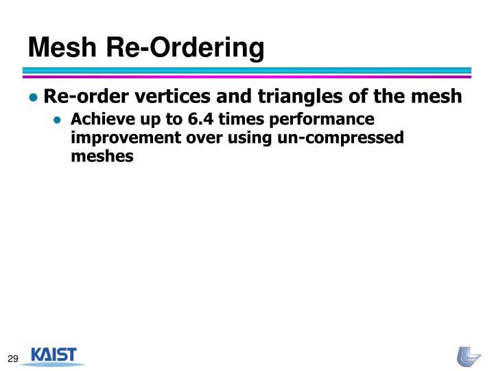 Mesh Re-Ordering