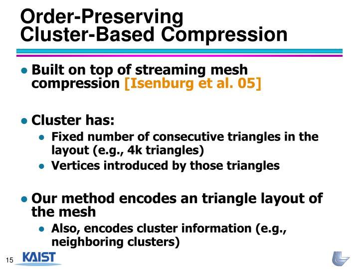Order-Preserving