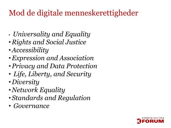 Mod de digitale menneskerettigheder