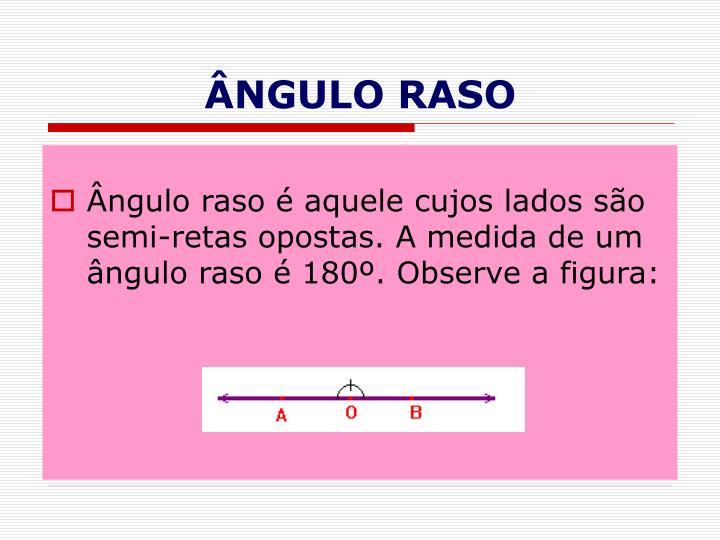 ÂNGULO RASO