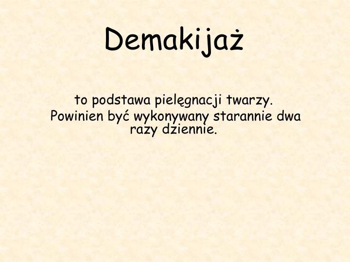 Demakijaż