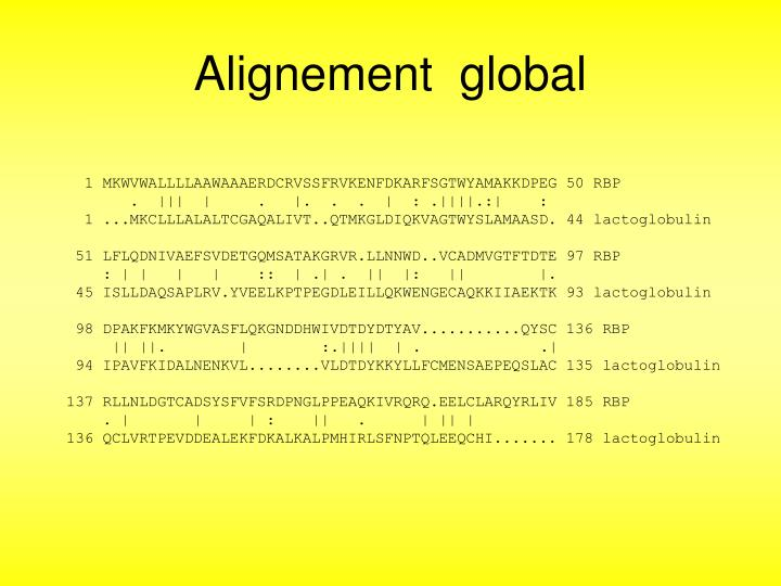 Alignement  global