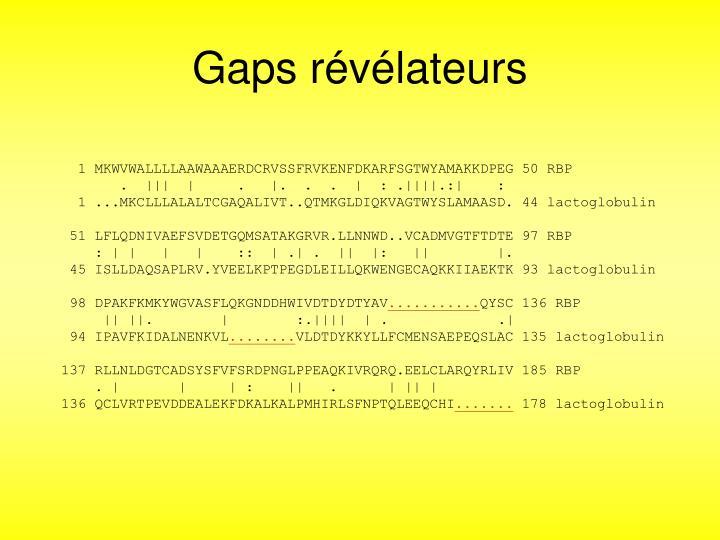 Gaps rvlateurs