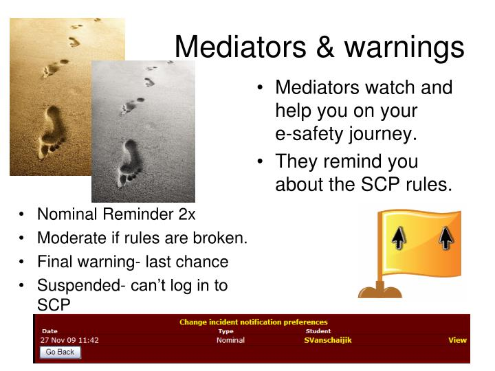 Mediators & warnings