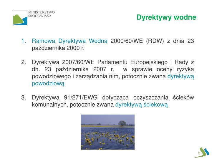 Dyrektywy wodne
