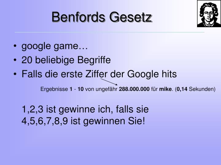 Benfords Gesetz