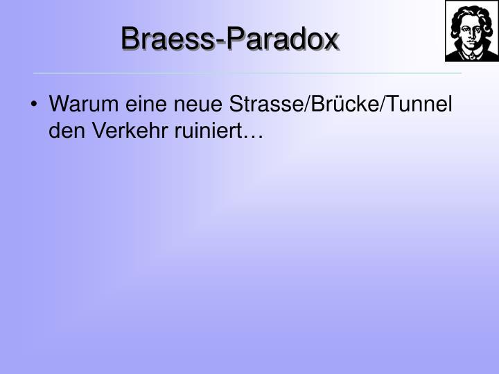 Braess-Paradox