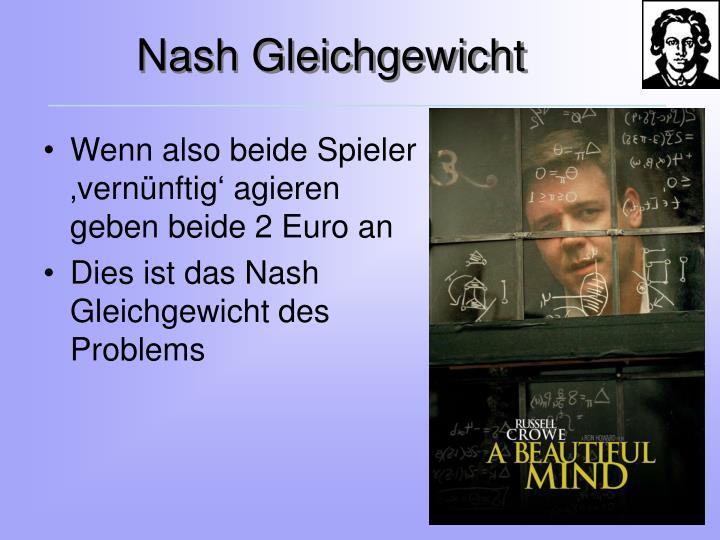 Nash Gleichgewicht