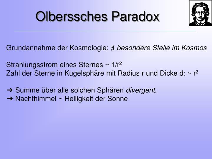 Olberssches Paradox