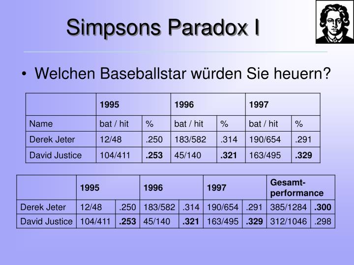 Simpsons Paradox I