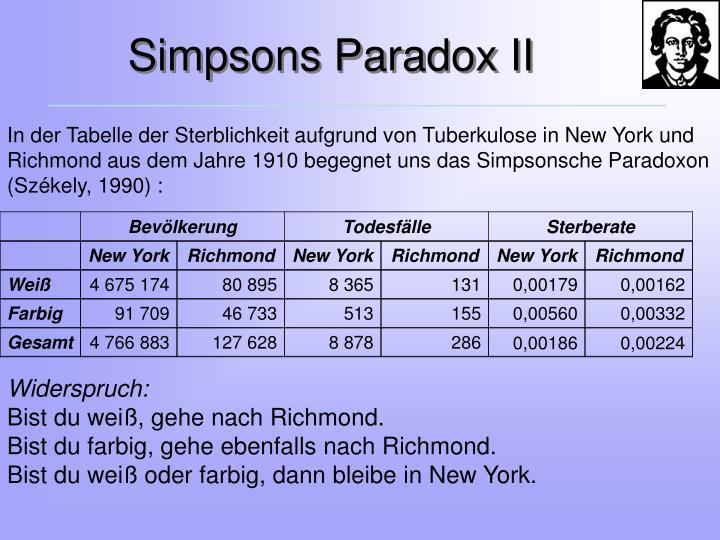 Simpsons Paradox II
