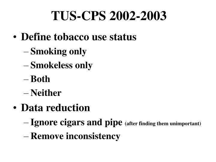 TUS-CPS 2002-2003