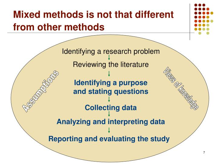 Mixed methods is not that different from other methods