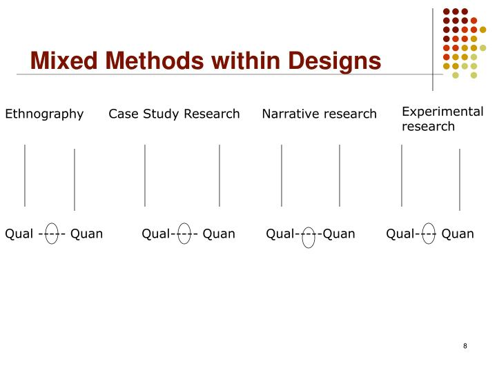 Mixed Methods within Designs
