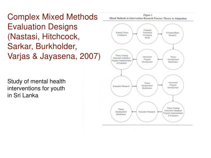 Complex Mixed Methods