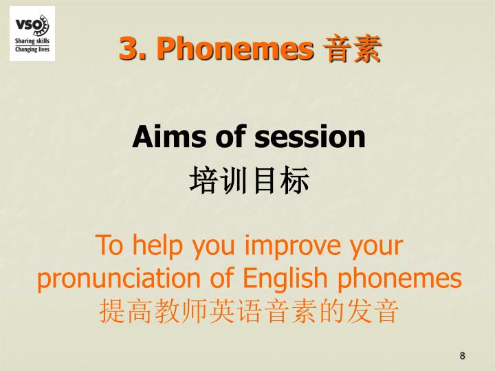 3. Phonemes