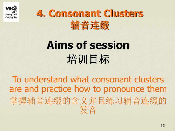 4. Consonant Clusters